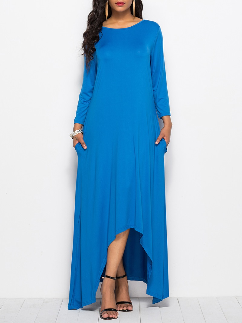 Ericdress Simple Asymmetric Pullover Casual Dress