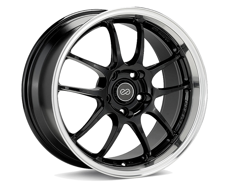 Enkei PF01 Wheel Racing Series Black Machined 17x9 5x114.3 48mm