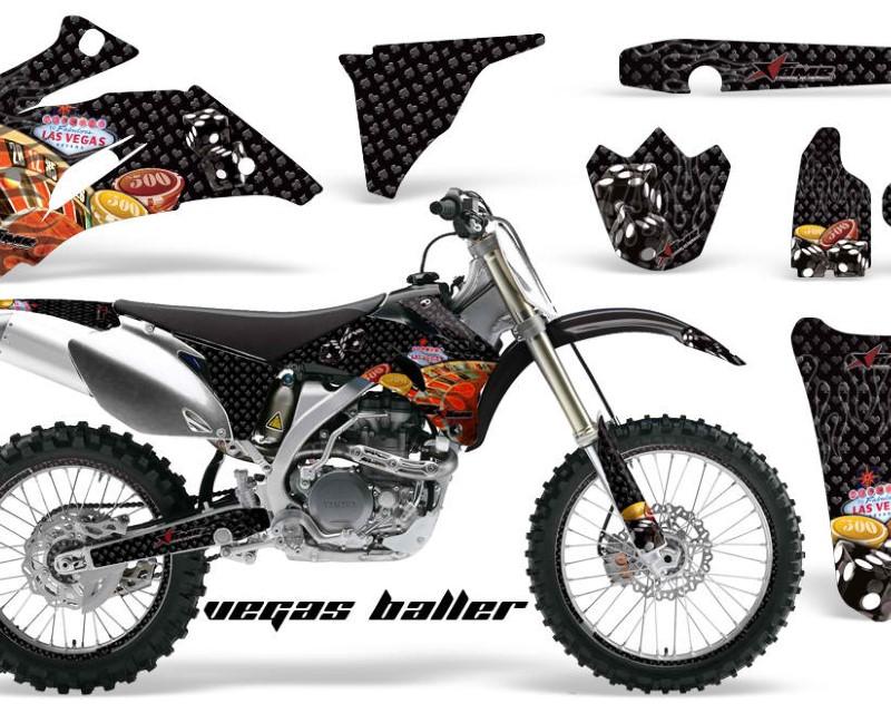 AMR Racing Graphics MX-NP-YAM-YZ250F-YZ450F-06-09-VB K Kit Decal Wrap + # Plates For Yamaha YZ250F YZ450F 2006-2009áVEGAS BLACK