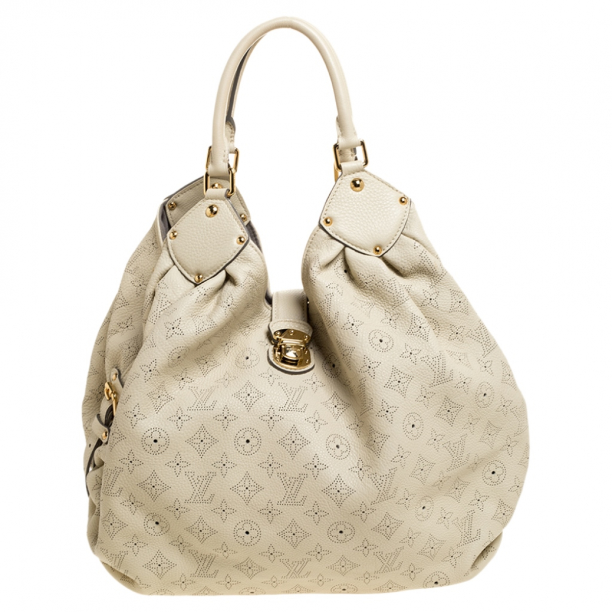 Louis Vuitton Mahina White Leather handbag for Women N