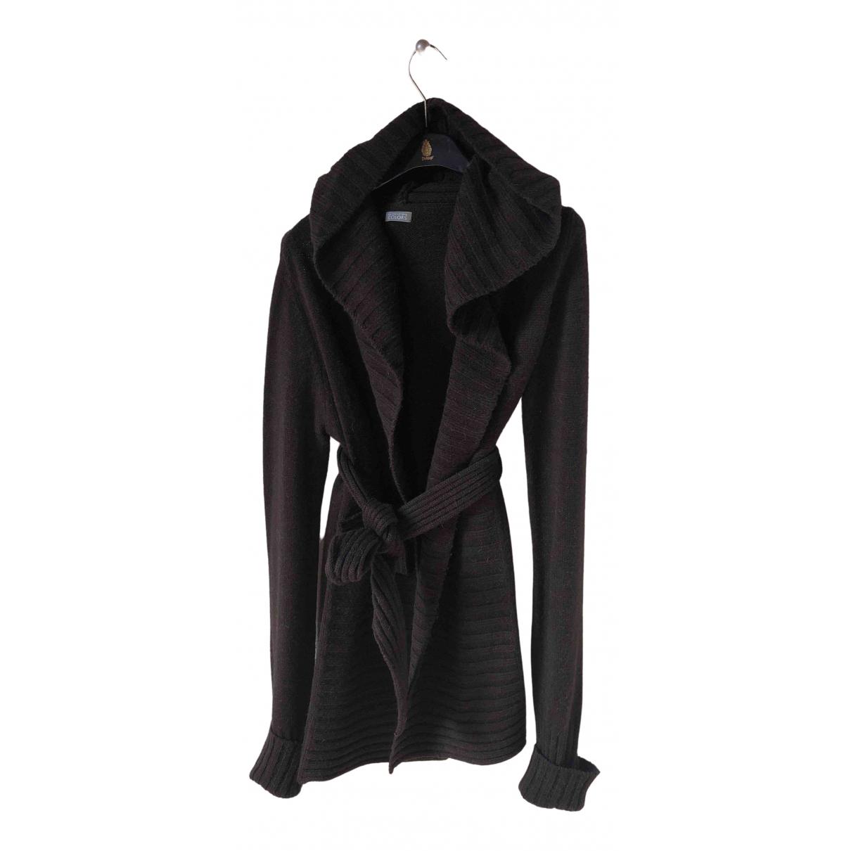 Benetton - Pull   pour femme en laine - marron