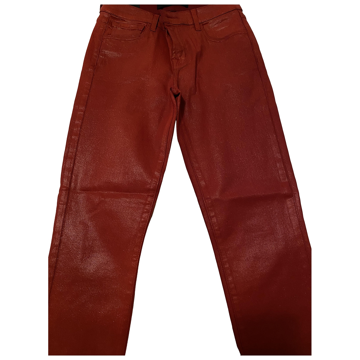 J Brand \N Red Leather Trousers for Women 36 IT