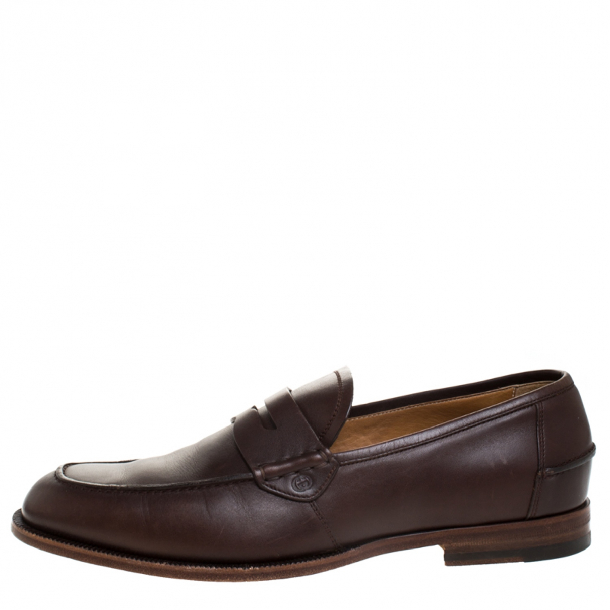 Gucci \N Brown Leather Flats for Men 9 US