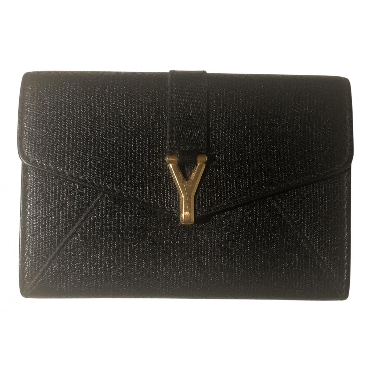 Yves Saint Laurent - Petite maroquinerie   pour femme en cuir - noir