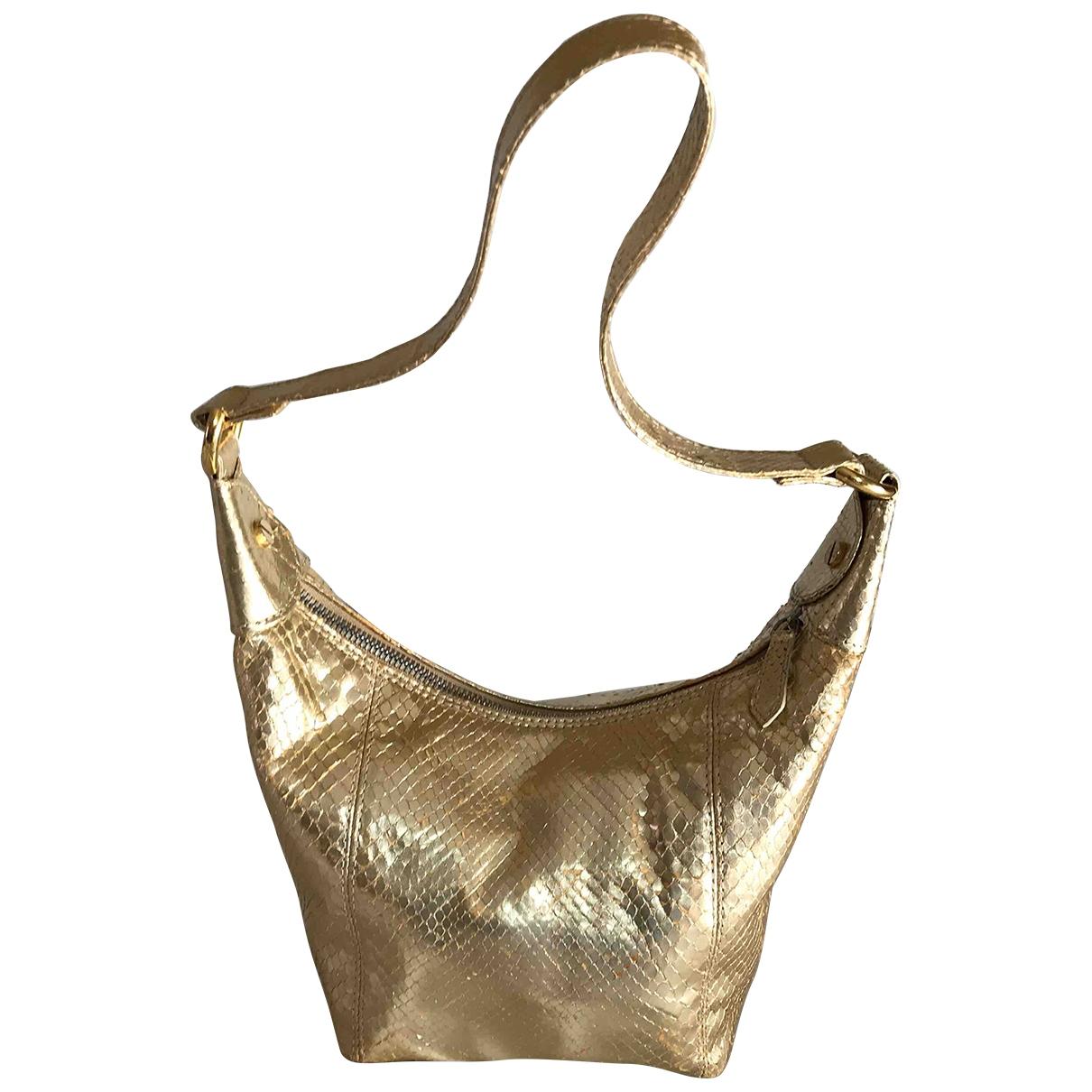 Valentino Garavani \N Handtasche in  Gold Leder