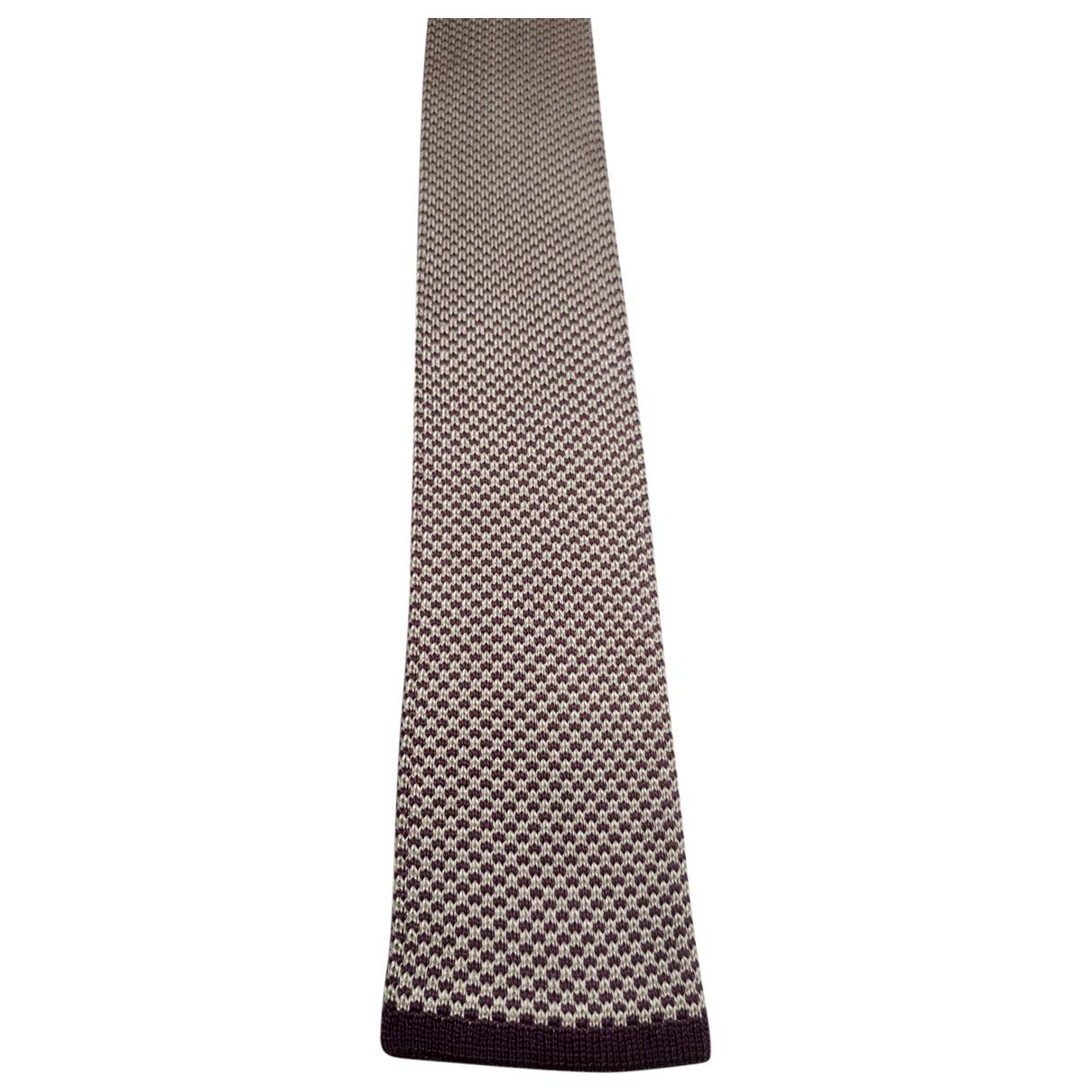 Corneliani \N Krawatten in  Lila Seide