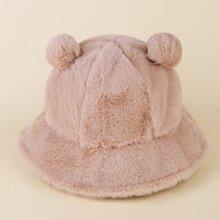 3D Ear Fluffy Bucket Hat