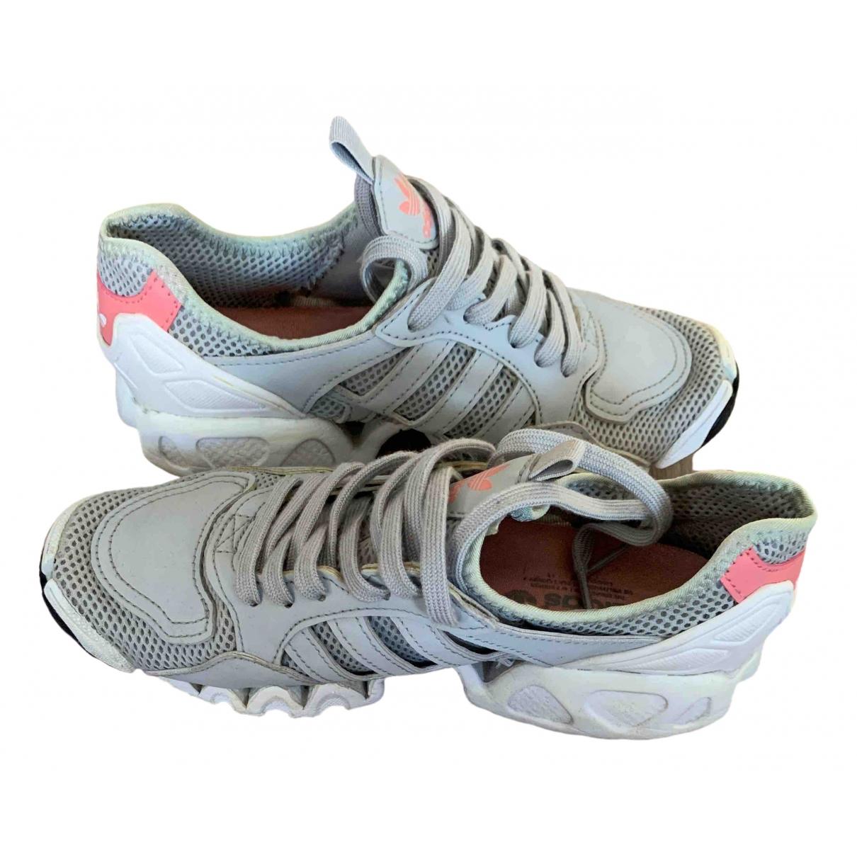 Adidas Streetball Sneakers in  Grau Leinen