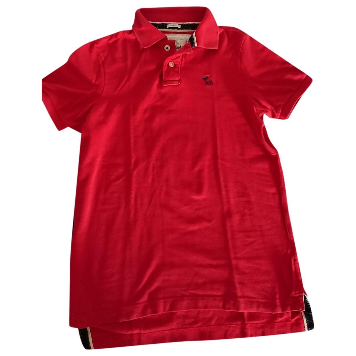 Abercrombie & Fitch - Polos   pour homme en coton - rouge