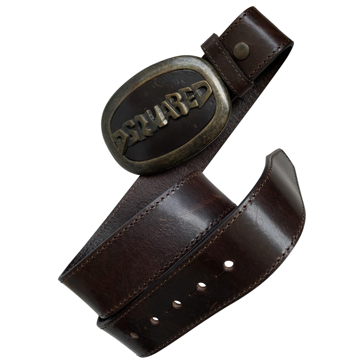 Dsquared2 \N Brown Leather belt for Women M International