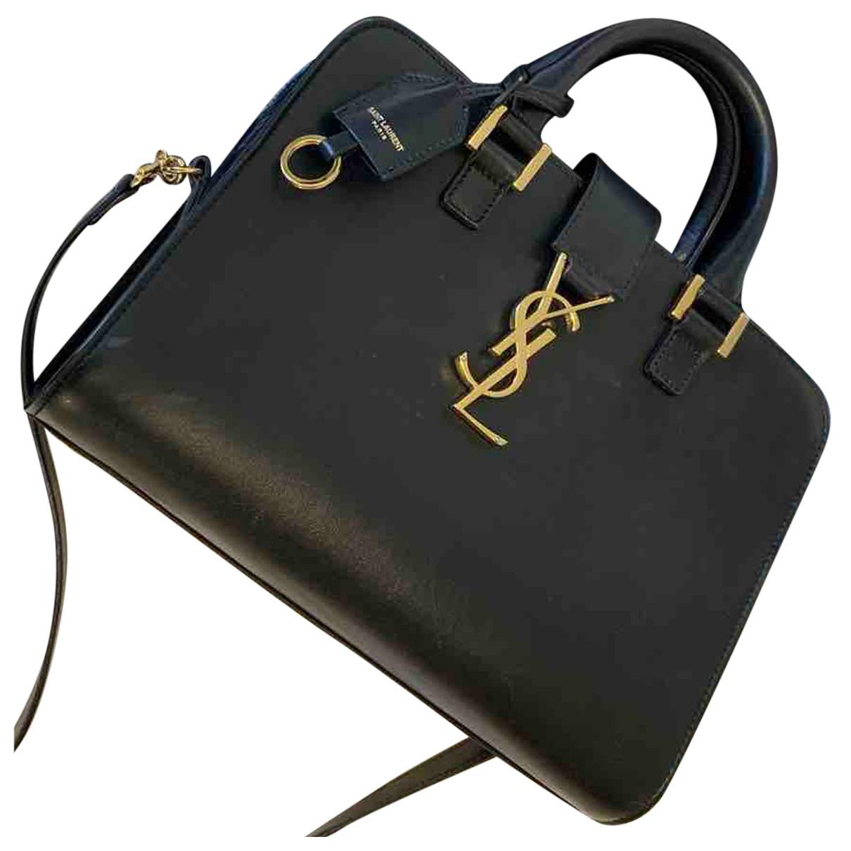 Saint Laurent - Sac a main Monogram Cabas pour femme en cuir - noir