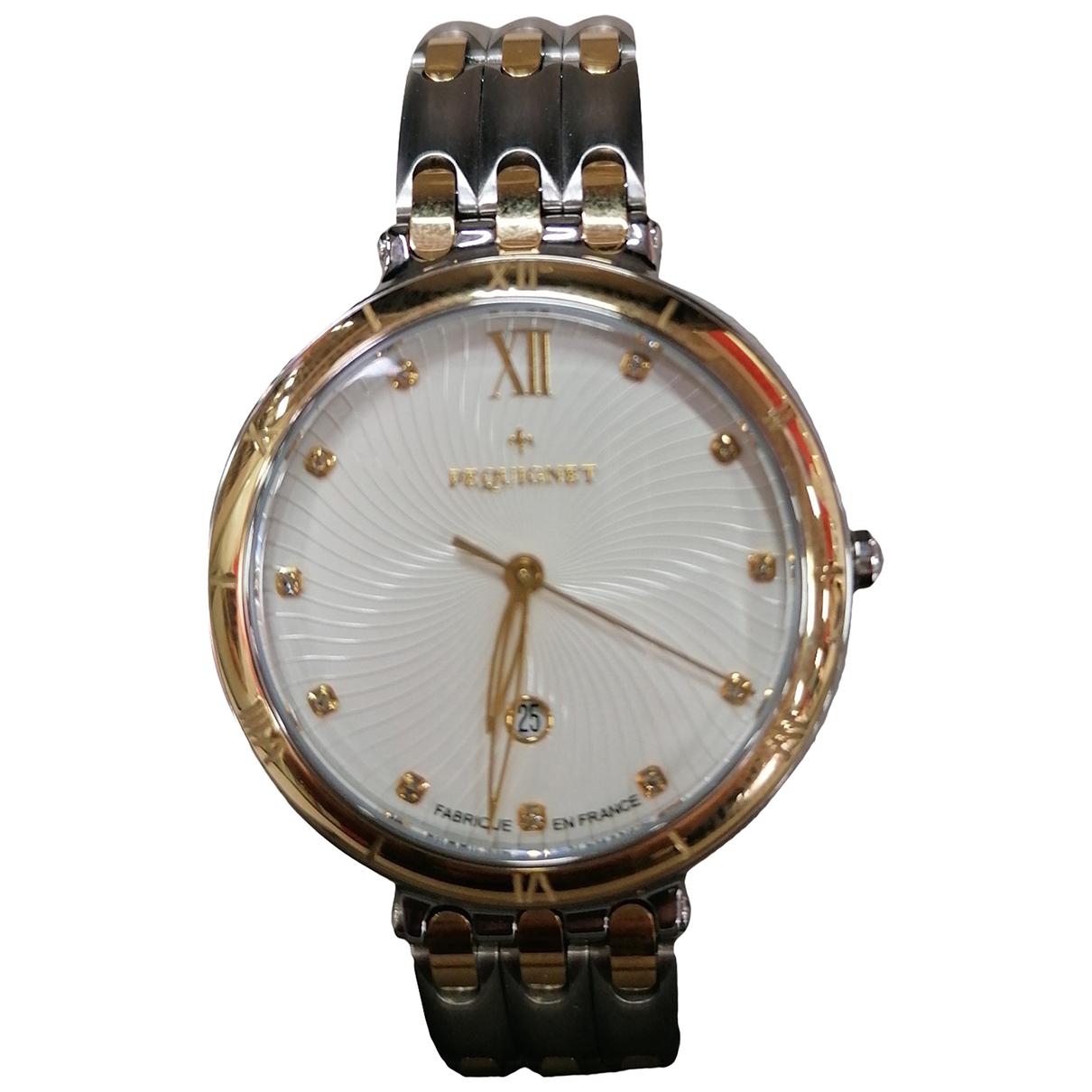Pequignet \N Uhr in  Silber Vergoldet