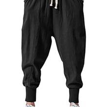 Pantalones harem de cintura con cordon