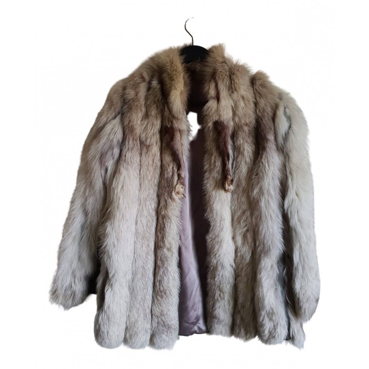 Non Signé / Unsigned \N Grey Fox coat for Women 36 FR