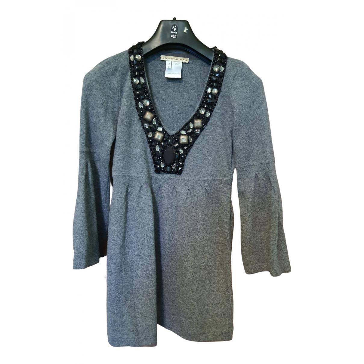 Balenciaga \N Grey Wool dress for Women One Size FR