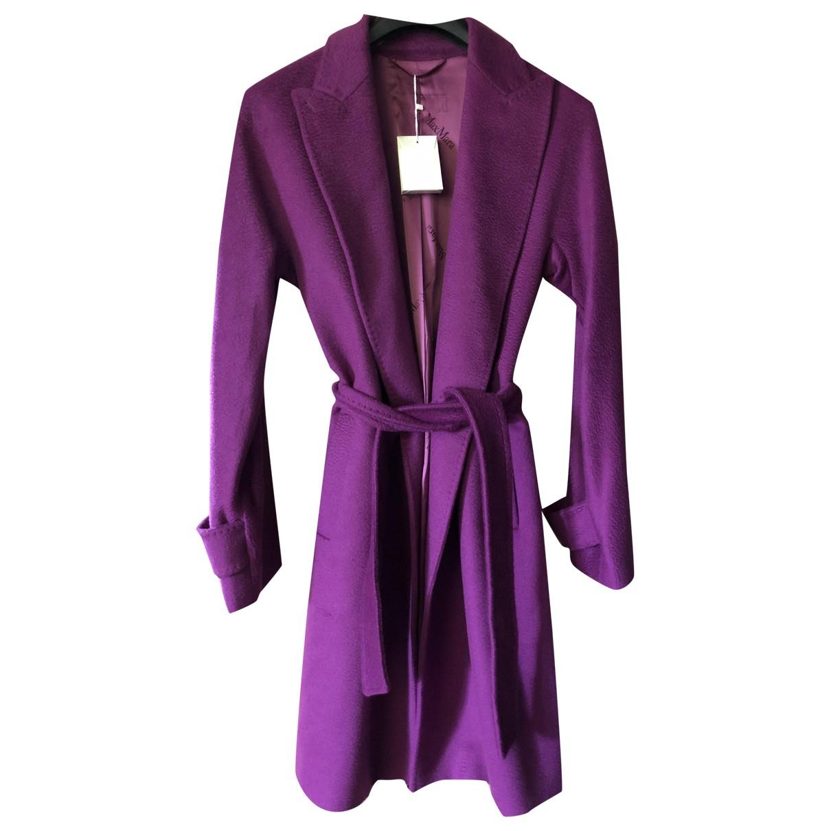 Max Mara \N Purple Wool coat for Women 48 IT