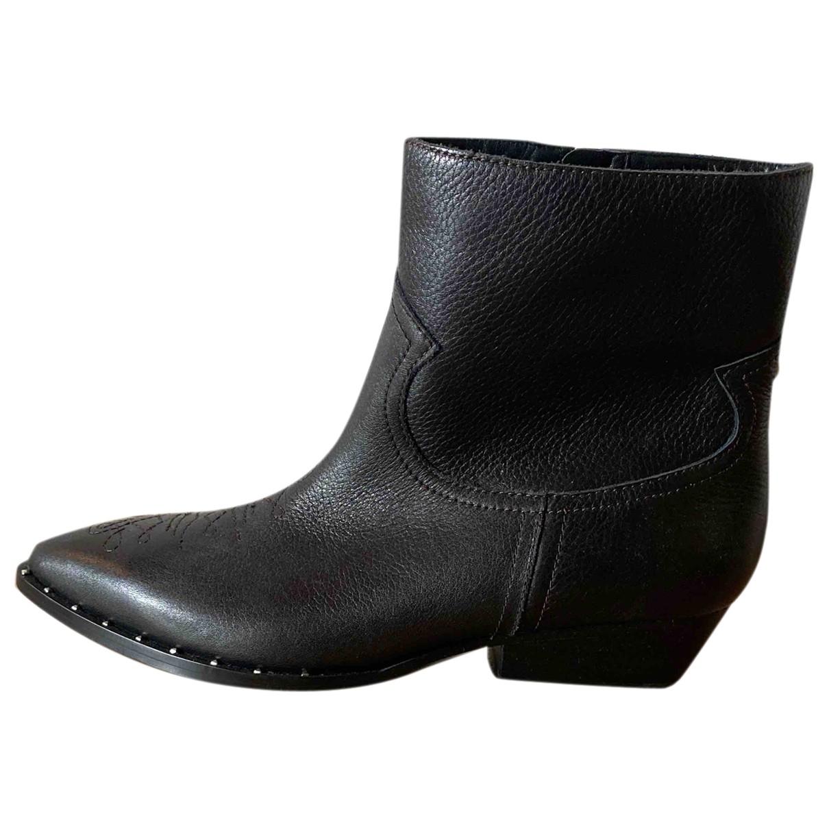 Sam Edelman - Bottes   pour femme en cuir - noir