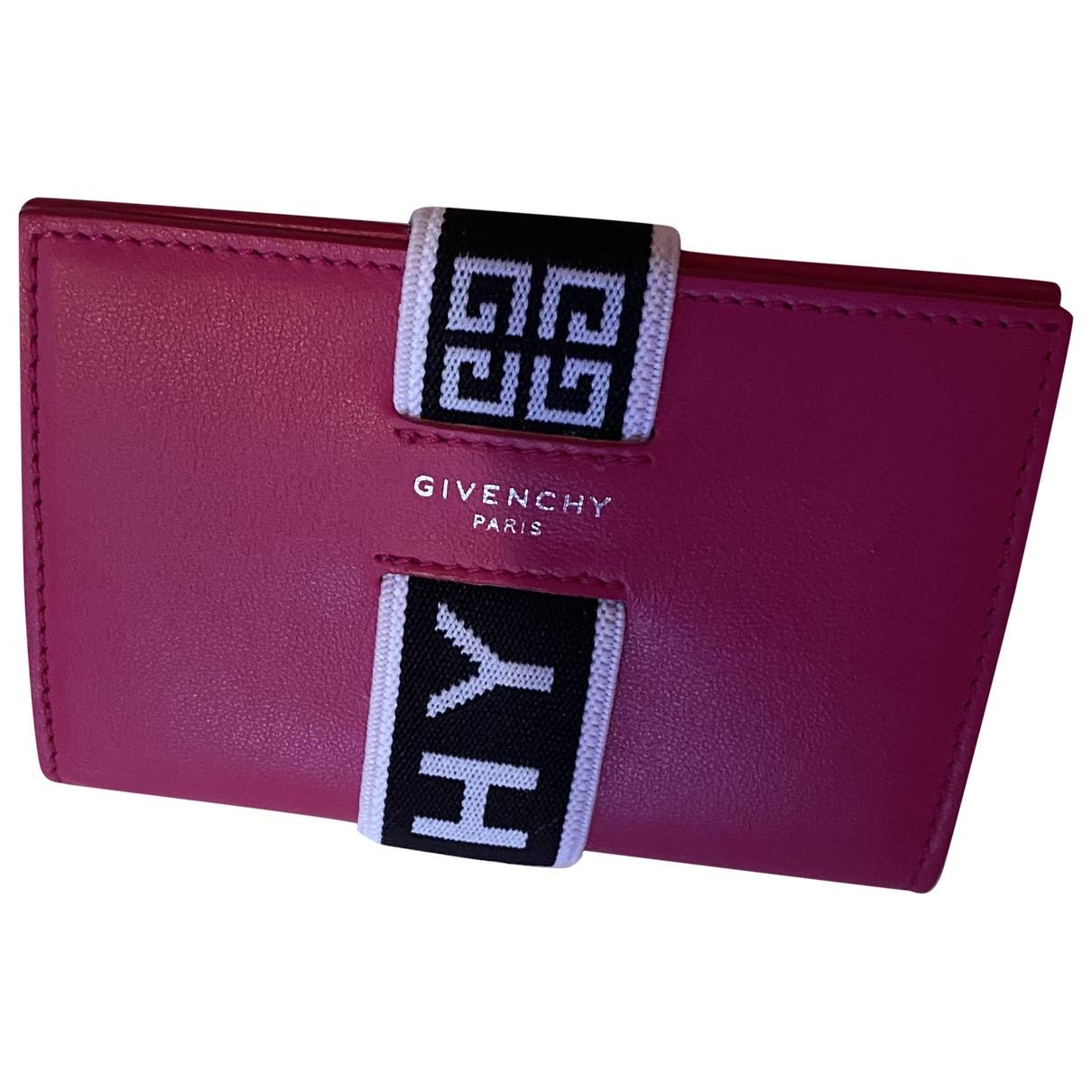 Givenchy \N Portemonnaie in  Rot Leder