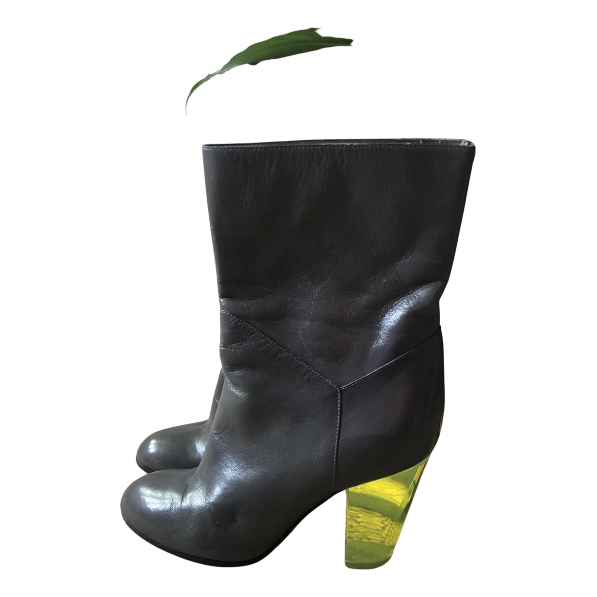 Marc By Marc Jacobs N Grey Leather Boots for Women 35 EU