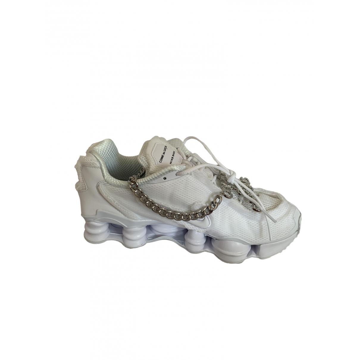 Nike X Comme Des Garcons - Baskets Shox pour homme - blanc