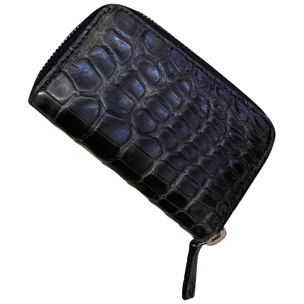 Gucci - Portefeuille   pour femme en alligator - noir