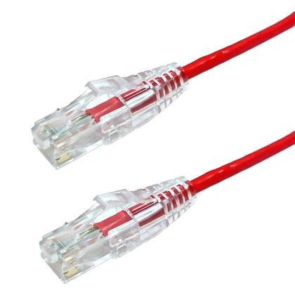 Câble de raccord ultra-mince Cat6 UTP - rouge - 20pi