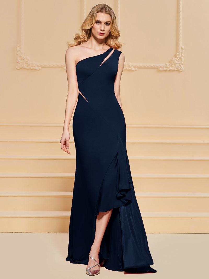 Ericdress Sheath One Shoulder Split Side Prom Dress