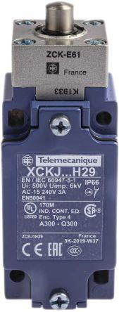 Telemecanique Sensors , Snap Action Limit Switch - Metal, NO/NC, Plunger, 600V, IP66