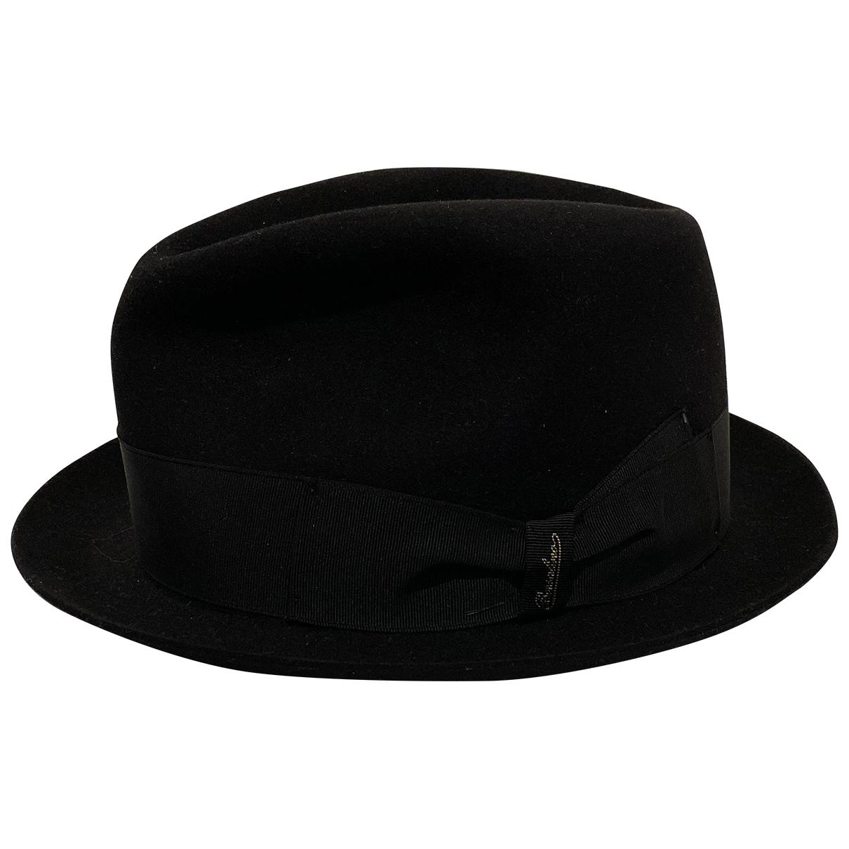 Borsalino - Chapeau & Bonnets   pour homme en laine - noir