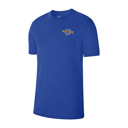 Nike Mens Crew Neck Short Sleeve T-Shirt, Medium , Blue
