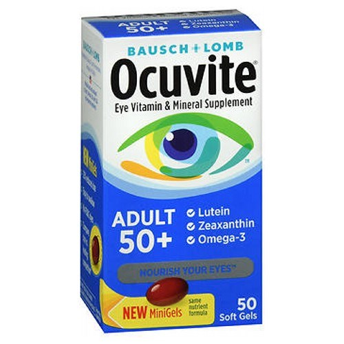 Bausch & Lomb Ocuvite Adult 50+ Soft Gels 50 ct by Bausch And Lomb