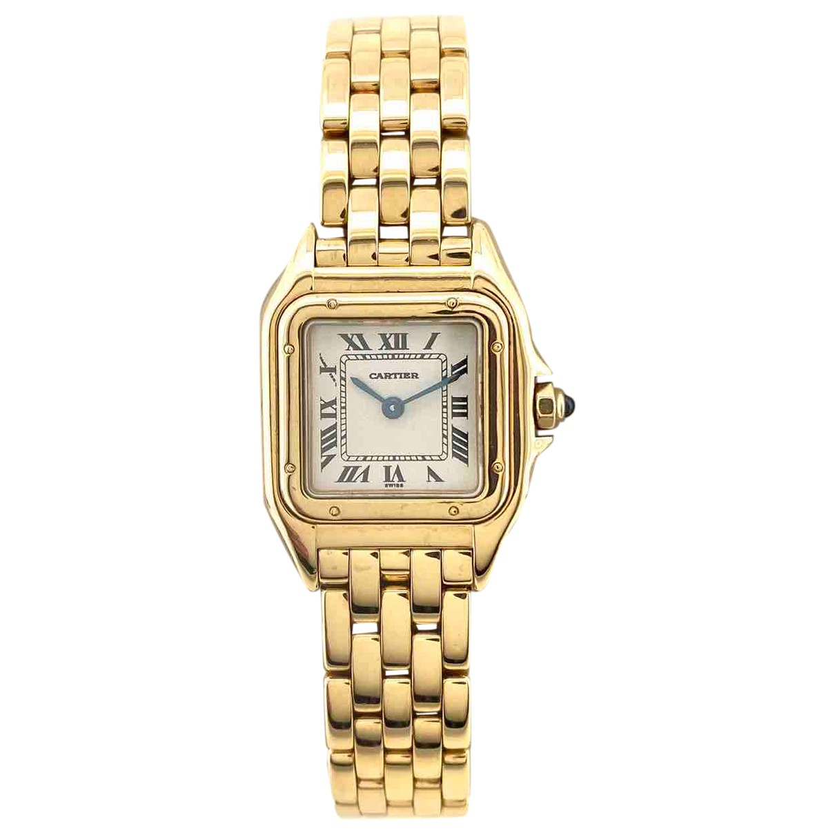 Cartier - Montre Panthere pour femme en or jaune - dore