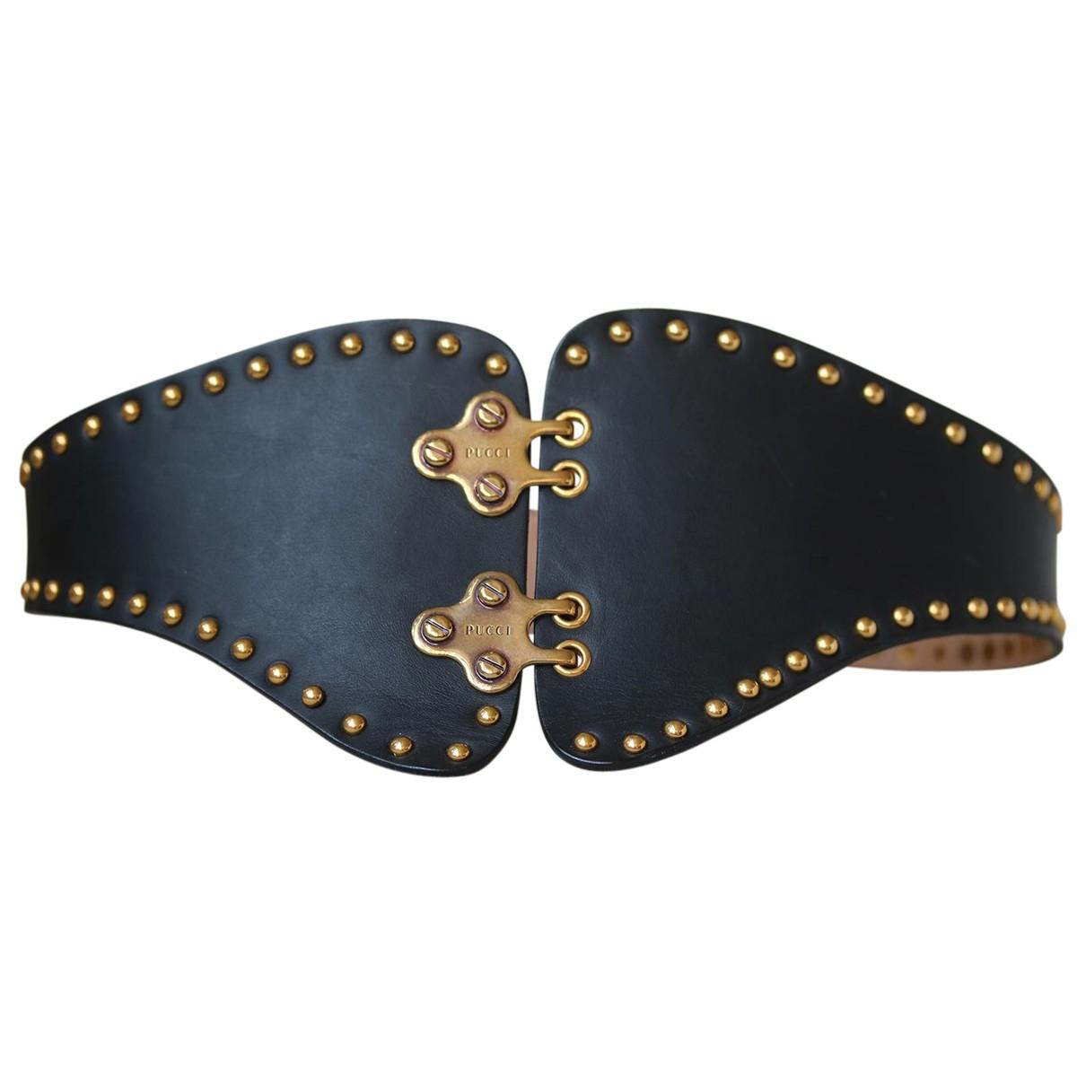 Emilio Pucci N Black Leather belt for Women S International