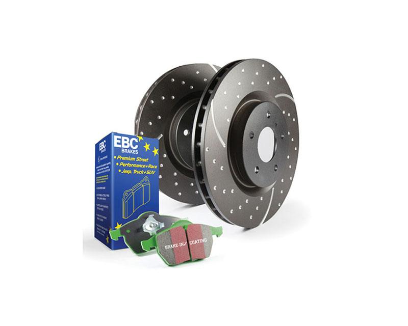 EBC Brakes S10KF1204 S10KF Kit Number Front Disc Brake Pad and Rotor Kit DP21524+GD1313 Mazda Front