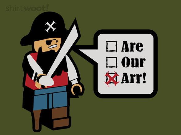 Grammar Pirate Gets It Wrong. Every Time. T Shirt