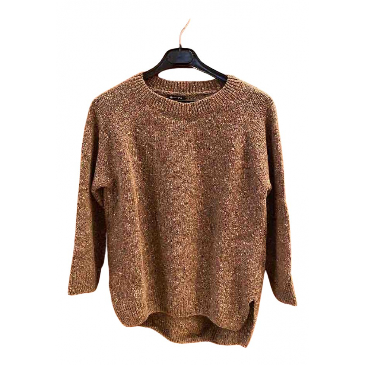 Massimo Dutti \N Pullover in  Braun Wolle