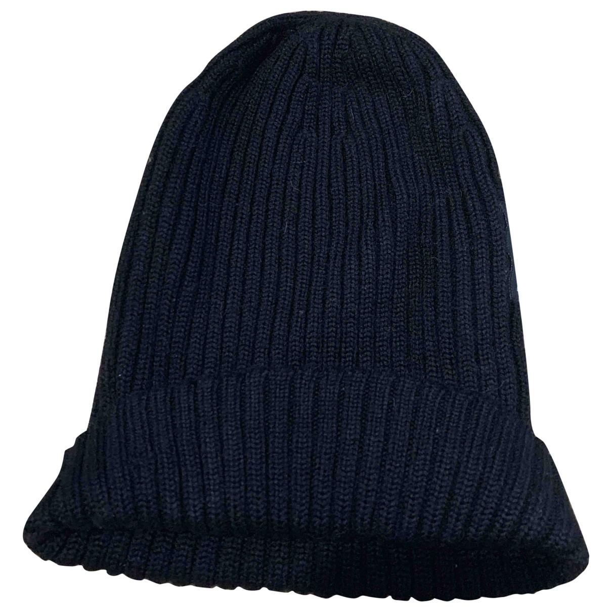 Dolce & Gabbana - Chapeau & Bonnets   pour homme en laine - noir