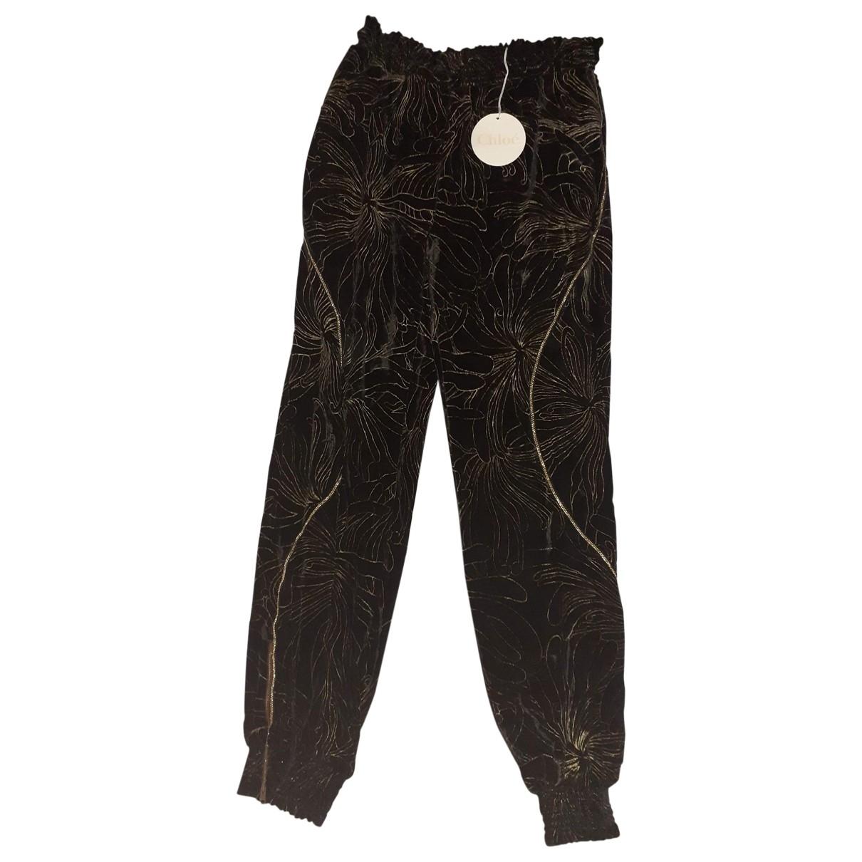 Chloé \N Black Trousers for Women 42 FR