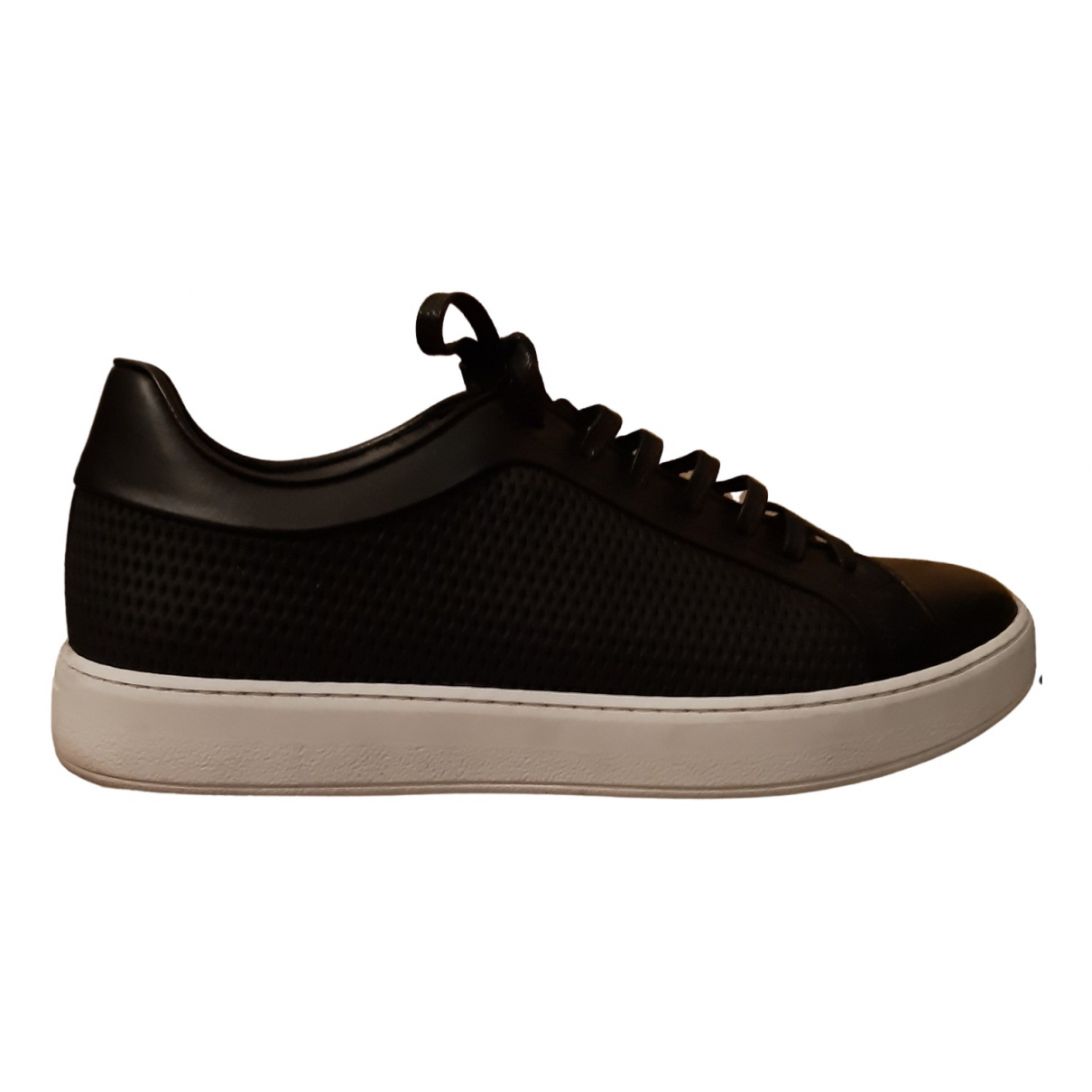 Dior Homme \N Black Leather Trainers for Men 41 EU