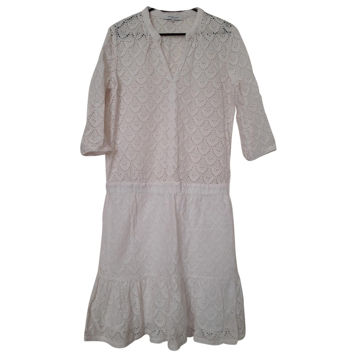 Gerard Darel - Robe   pour femme en coton - blanc