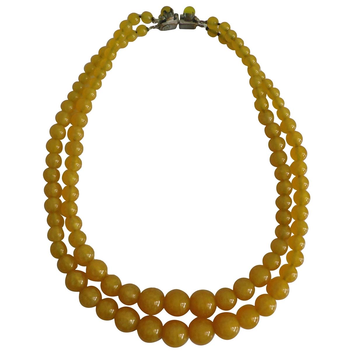 Dior - Collier   pour femme en verre - jaune