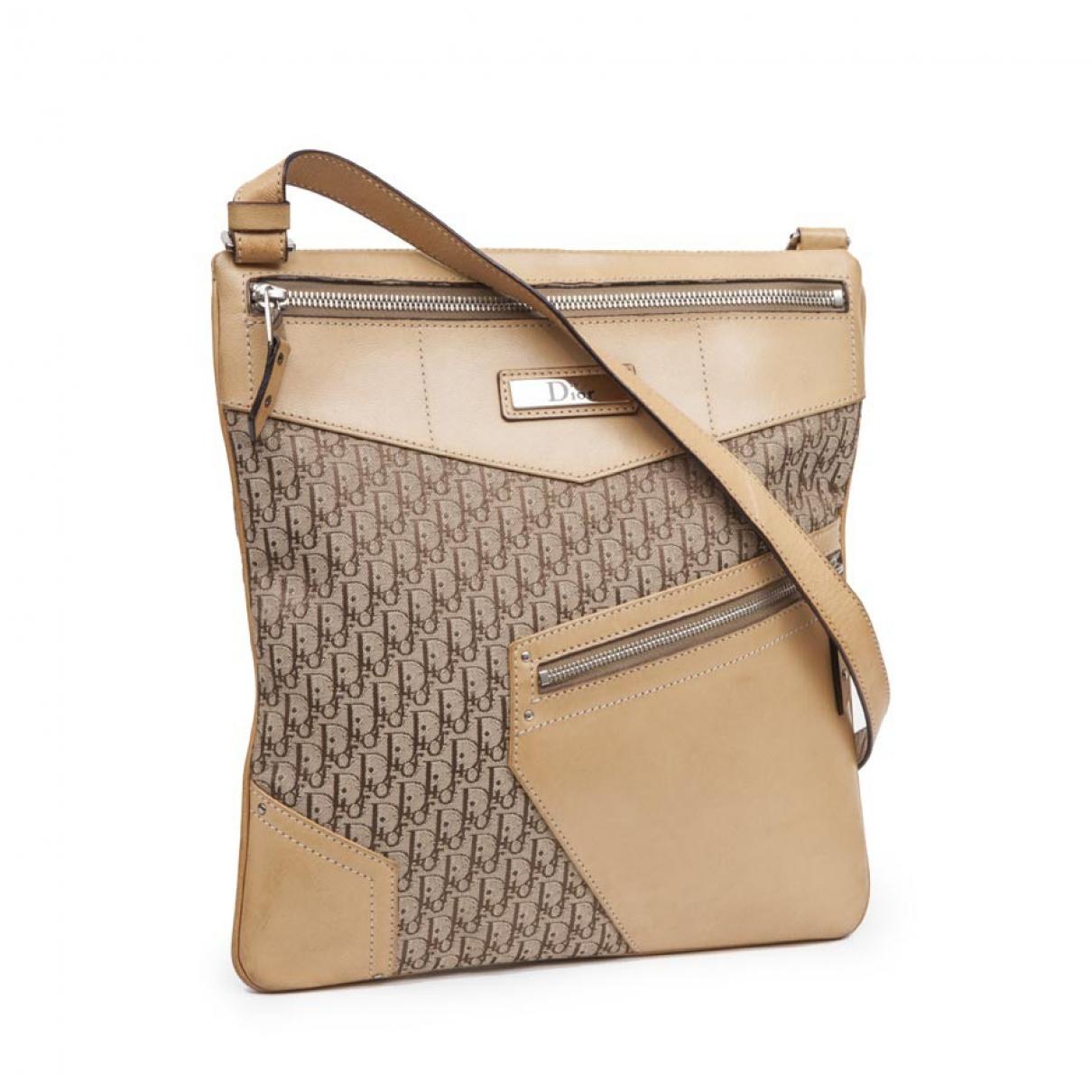 Dior \N Beige Cloth handbag for Women \N