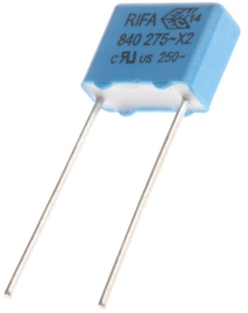 KEMET 10nF Polypropylene Capacitor PP 275 V ac, 760 V dc ±20% Tolerance Through Hole PHE840 Series (10)