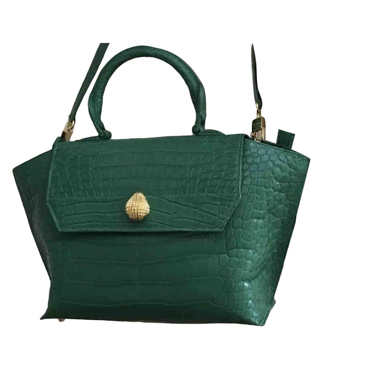 Ethan K \N Green Crocodile handbag for Women \N