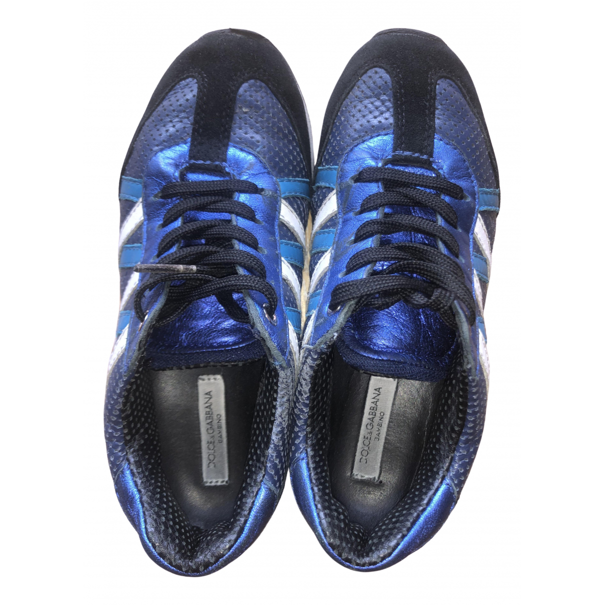 Dolce & Gabbana \N Blue Leather Trainers for Kids 30 FR