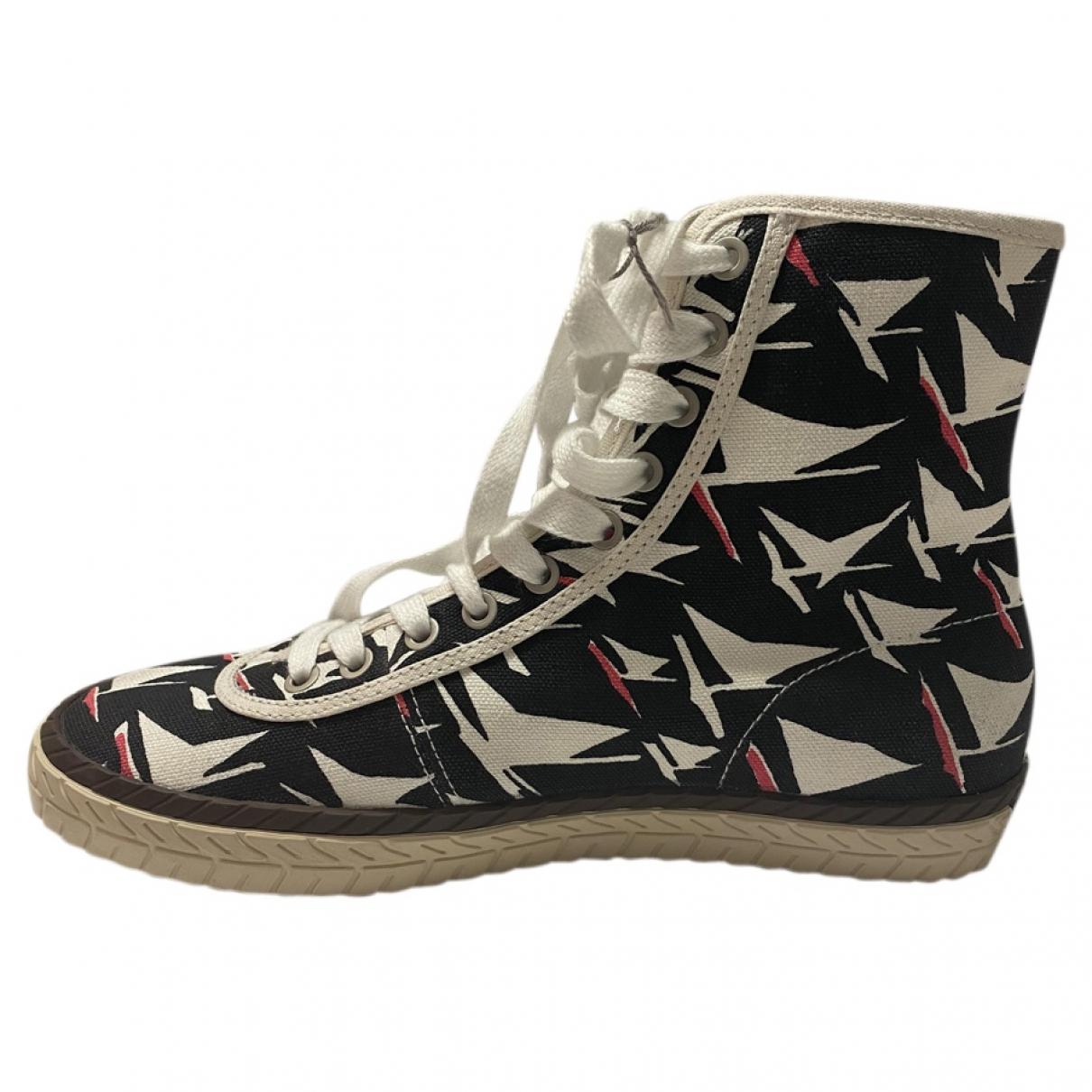 Marni \N Sneakers in  Schwarz Leinen