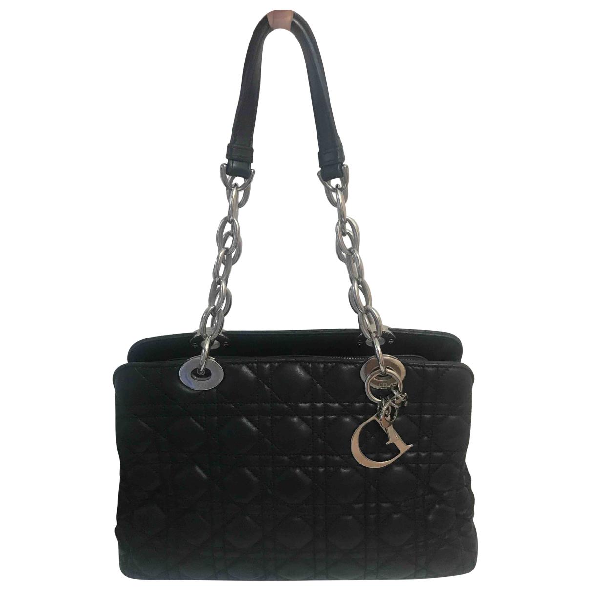 Dior - Sac a main Dior Soft Shopping pour femme en cuir - noir
