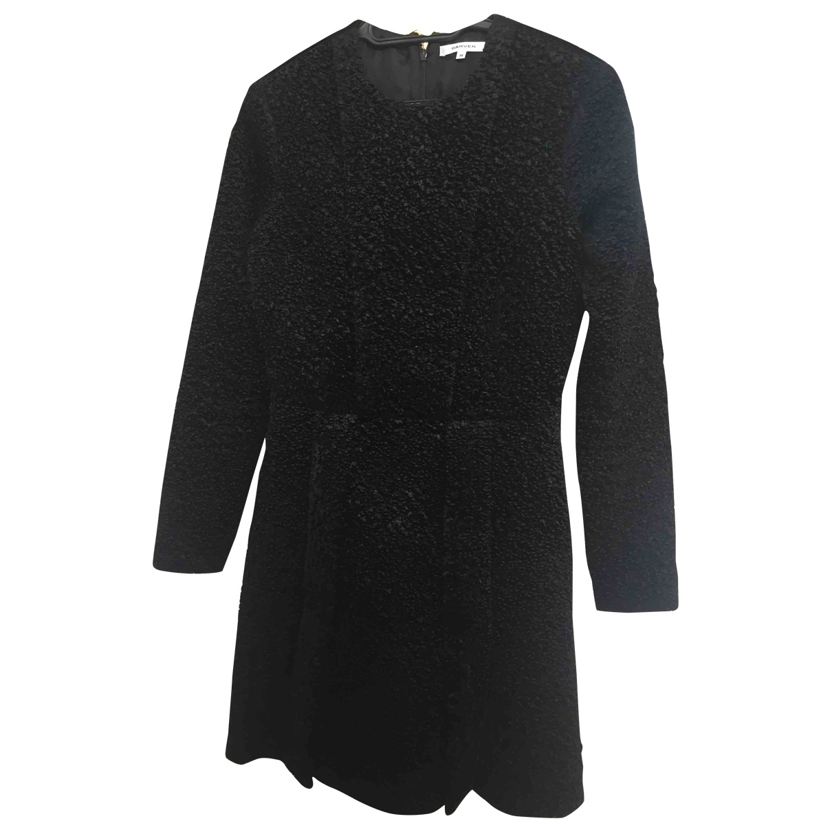 Carven \N Kleid in  Schwarz Viskose