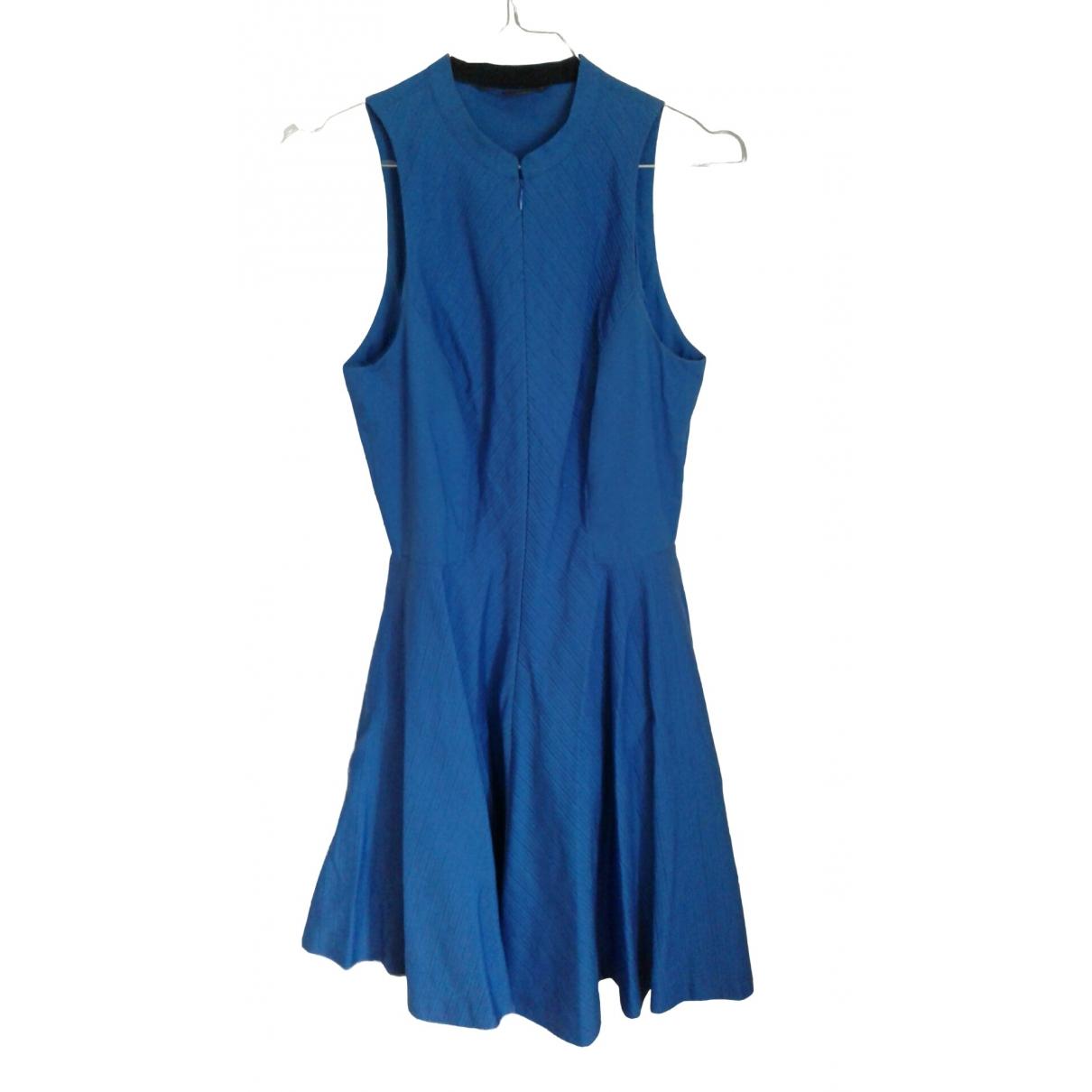 Emporio Armani - Robe   pour femme en coton - bleu