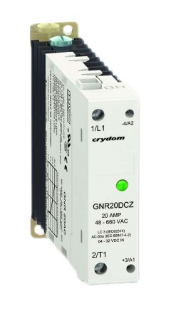 Sensata / Crydom 20 A rms Solid State Relay, Zero Crossing, DIN Rail, 600 Vrms Maximum Load
